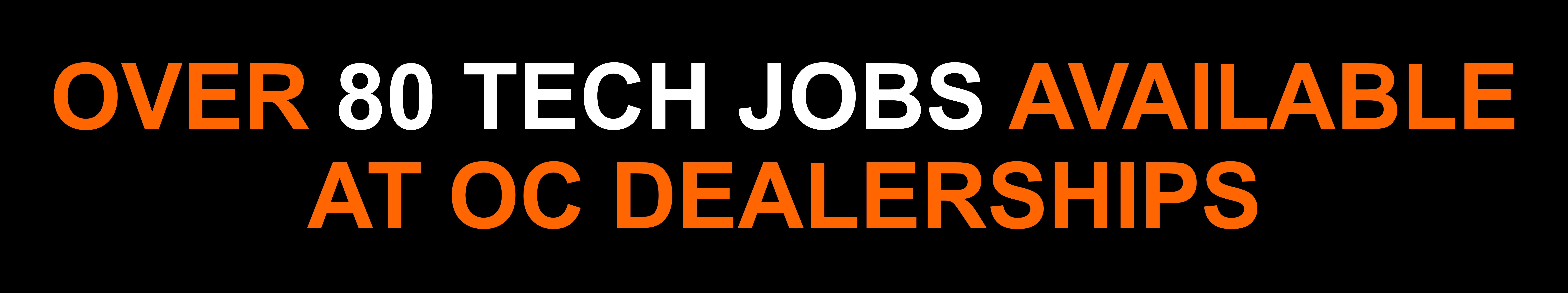 Automotive Technician Jobs at Orange County Dealerships